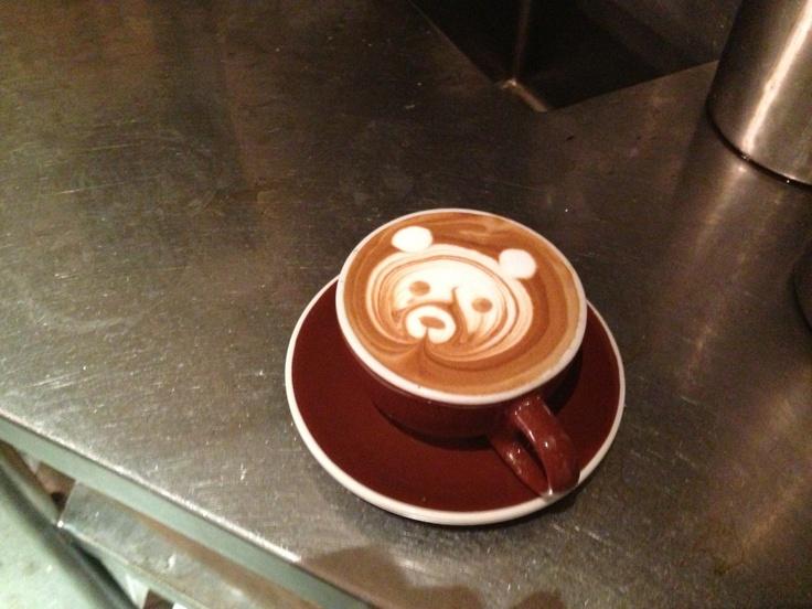 Bear in the Coffee | Latte Art | Baristart |   Mike Breach