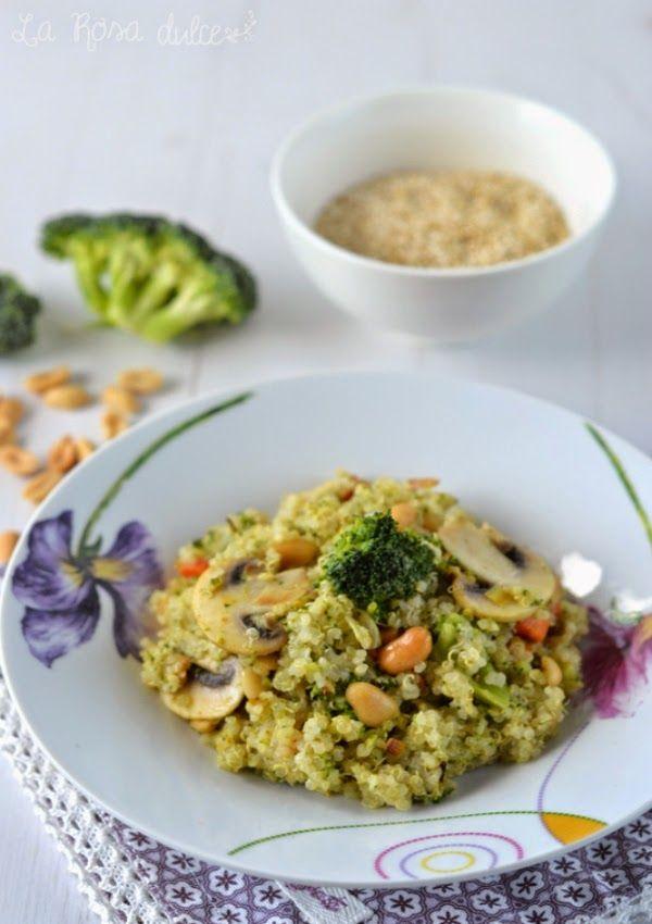 Quinoa con verduras, curry y cacahuetes