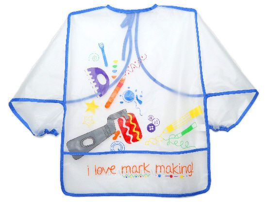 Long sleeve Child Children Toddler Painting Waterproof PEVA Apron Bib Coverall