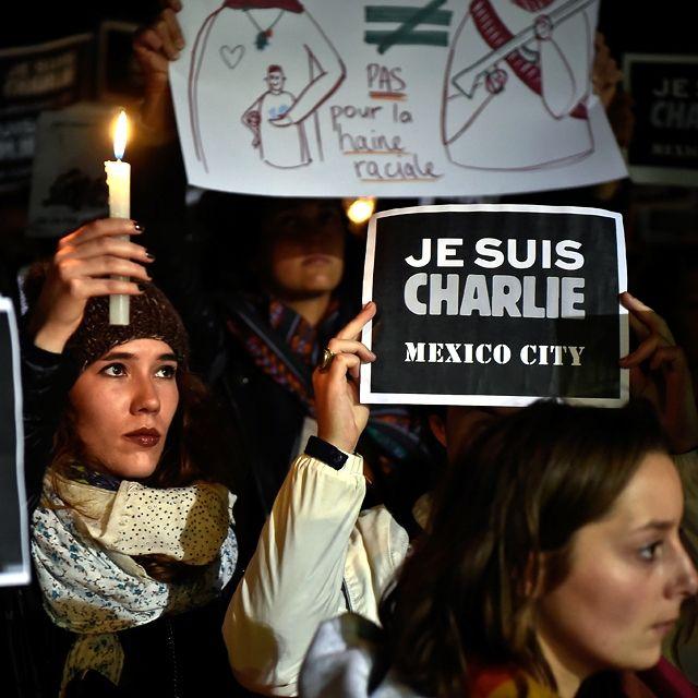 Una veglia per ricordare #Charlieebdo a Città del Messico