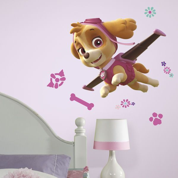 Paw Patrol Skye Giant Wall Decal - Wall Sticker Outlet