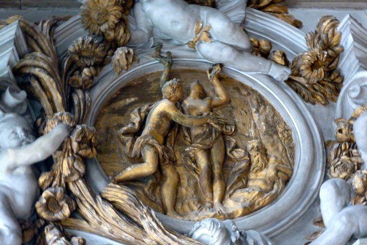 Venezia, Ca' Zenobio, La sala degli Specchi, Apollo e Dafne