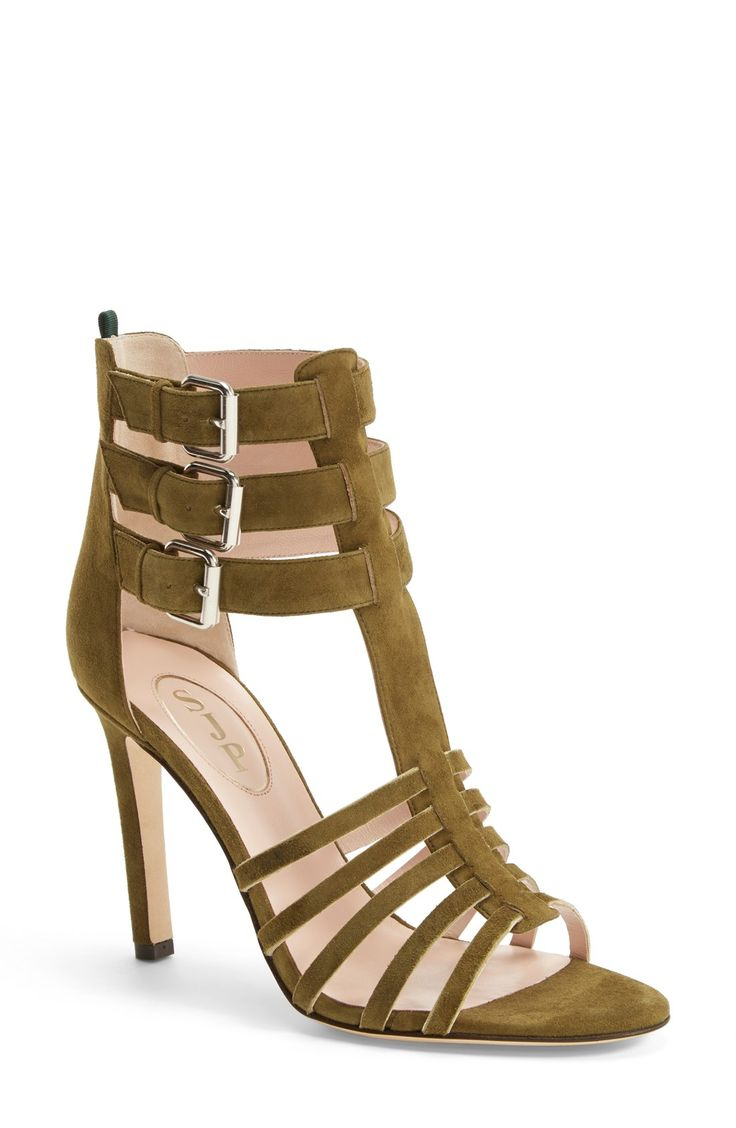 The laddered ankle straps completely refresh the look of this graceful SJP sandal.