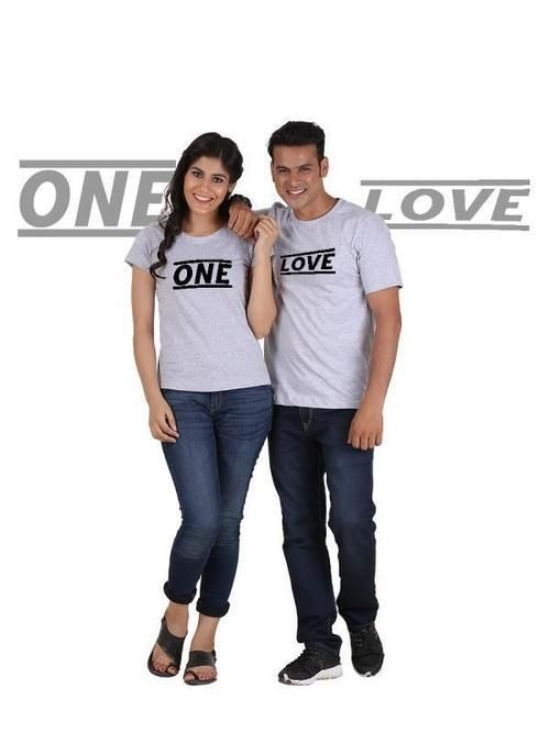3897cf59b1a One Love (Classic) Classic Couple T-Shirt Gray | Couples Shirts ...
