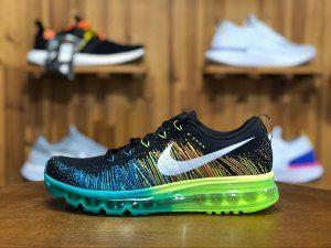 detailed look 5c153 fe83d Mens Nike Air Max Flyknit 2014 Black Turbo Green Volt 620469 001 Shoes  Sportswear Nike Air