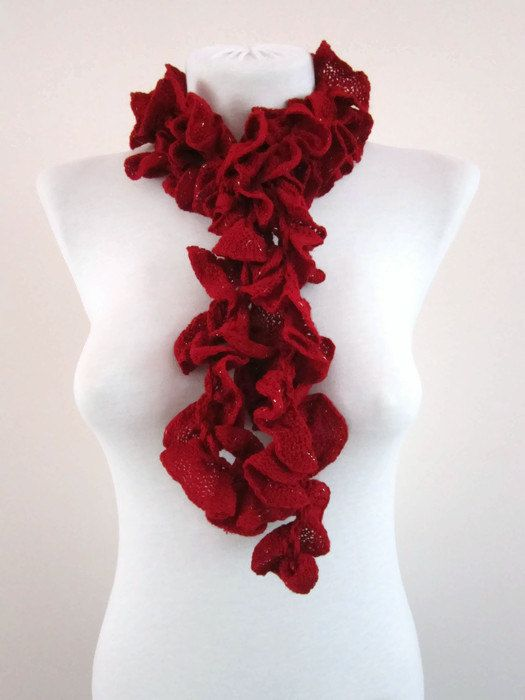 62 best Ruffle scarf images on Pinterest