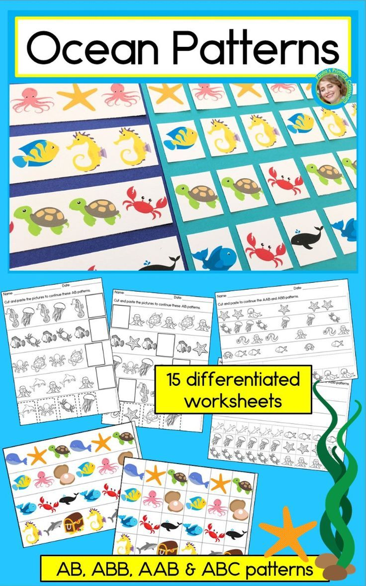 Engage Your Preschool Kindergarten And First Grade Students In Pattern Practice With This Beautiful Hands Abb Patterns Kindergarten Math Addition Math Center [ 1177 x 736 Pixel ]
