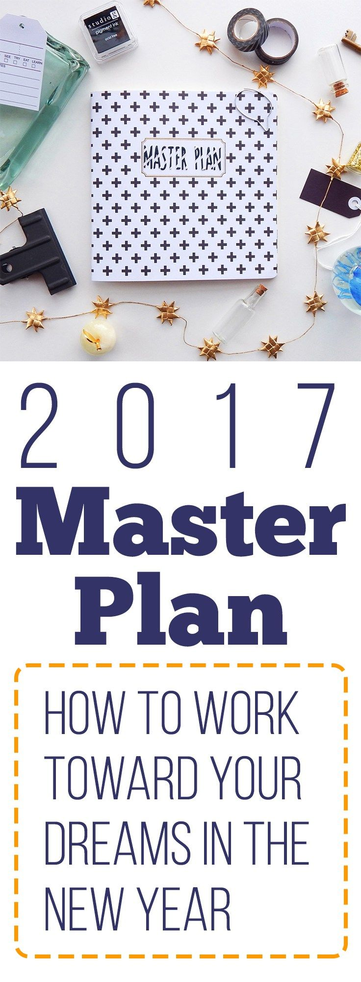 It's time to set your eyes to the future and see how you can tackle your goals with a 2017 master plan. This is your year to plan and take on big dreams!