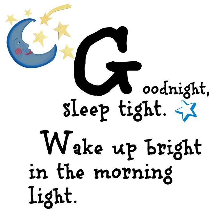 Good night printable, cute for a nursery
