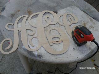 Shanty Insanity!: Monogram Madness! DIY wooden monogram