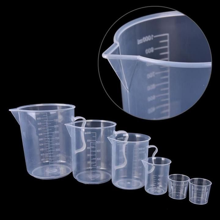 Clean Transparent Plastic Adjustable Measuring Cup Spoons Home Kitchen Tools New