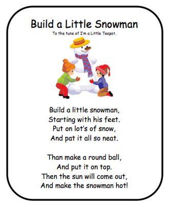 Snowman Poem: Classroom Freebies, Snowman Crafts For Preschool, Snowman Songs For Preschool, Felt Boards, Snowman Songs Preschool, Winter Activities, Winter Poems For Preschool, Snowman Poems For Kids, Christmas Songs For Preschool