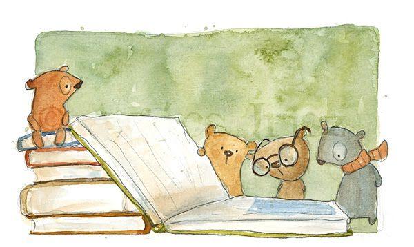 Bears with Books // Medvék könyvekkel -  Irisz Agócs