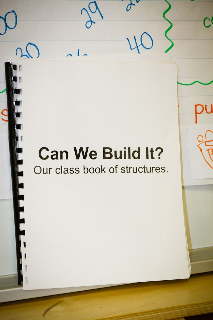 Play To Learn In Kindergarten: Trouble In Paradise.  To expand upon this fantastic idea, I would have the kids create a matching book with a picture of their structure (and their written description complete with labels,etc).   You could also tap into 21st century skills by using a story telling app--creating a digital book to document and write about their work.