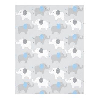 Papel do álbum de recortes do bebê do elefante do papel timbrado