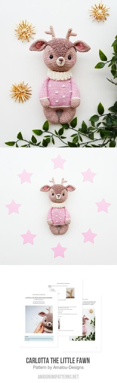 Carlotta The Little Fawn  Amigurumi Pattern