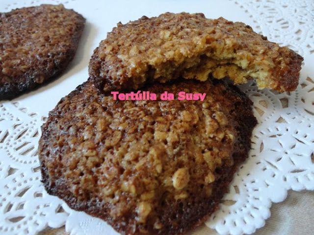 Bolachas de flocos de aveia http://tertuliadasusy.blogspot.pt/2013/08/bolachas-de-flocos-de-aveia.html