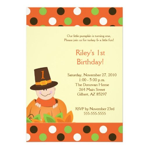 Best Thanksgiving Birthday Invitations Images On