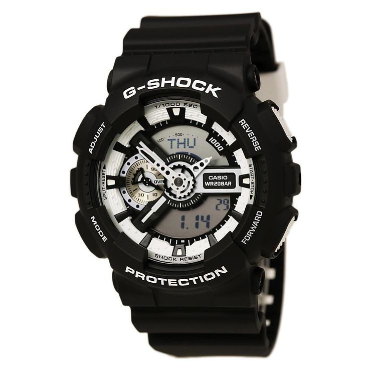 CRAZY DEAL THIS WEEKEND ONLY NEW G-SHOCK  GA110BW-1A ANTI SHOCK ANA-DIGI WATCH