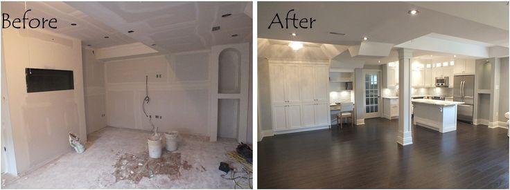 www.contractingbyus.com #beforeandafter #modern #homerenovation #homeimprovement #homeremodelling #reno #basementfinishing #finishedbasement #basement #flooring #generalcontractor