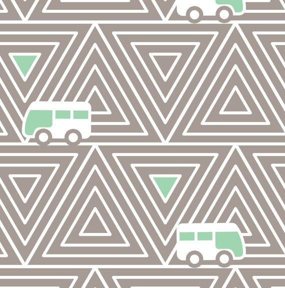 Children 39 s modern fabric with buses cotton fabric by the for Modern kids fabric