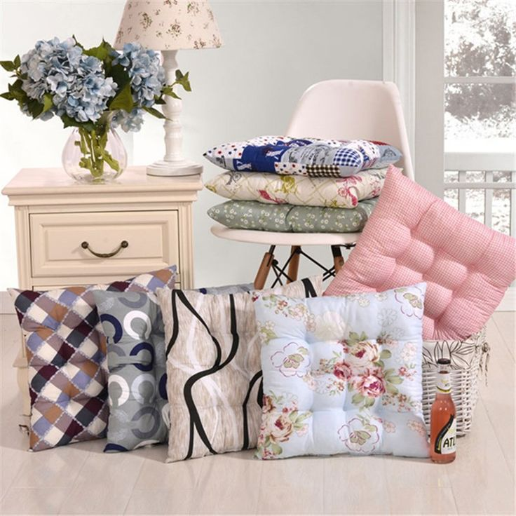 14 Styles Polyester Cushion Mat 40*40cm Cotton Seat Flower Pattern Soft Home Office Square Cotton Pillow Buttocks Chair