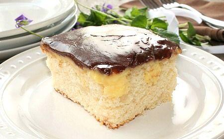 Semi Homemade Boston Cream Cake