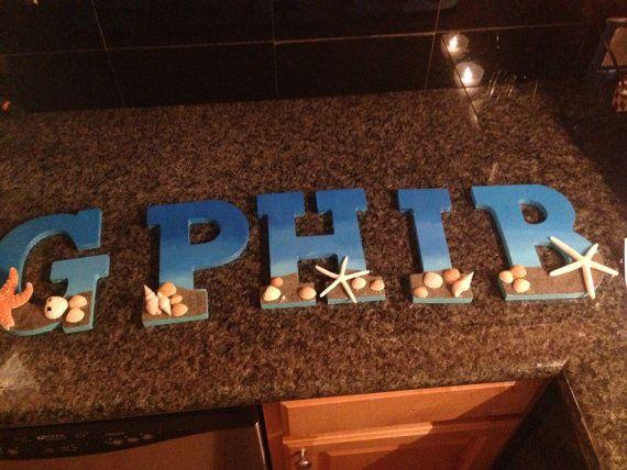 gamma phi beta beach themed sorority letters
