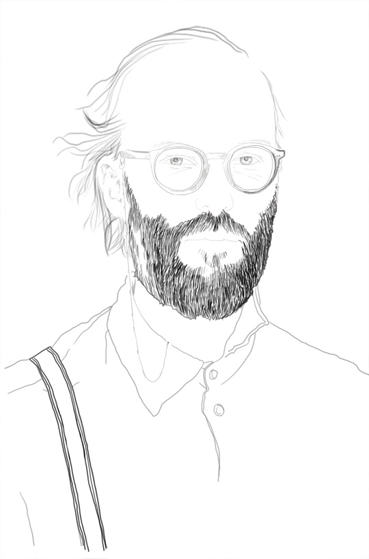 bearded man -by Susanne Björkdahl