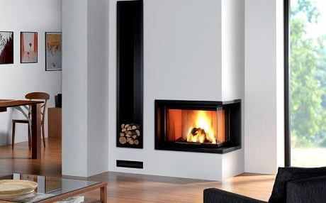 pictures of fireplaces with built in wood boxes | Modern Built-in Fireplaces For Your Home | ComFree Blog