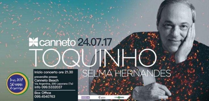 Taranto - Toquinho & Selma Hernandes al Canneto Beach per i 50 anni di carriera