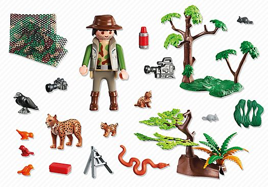 Lynx Family with Cameraman individual pieces | Playmobil Australia
