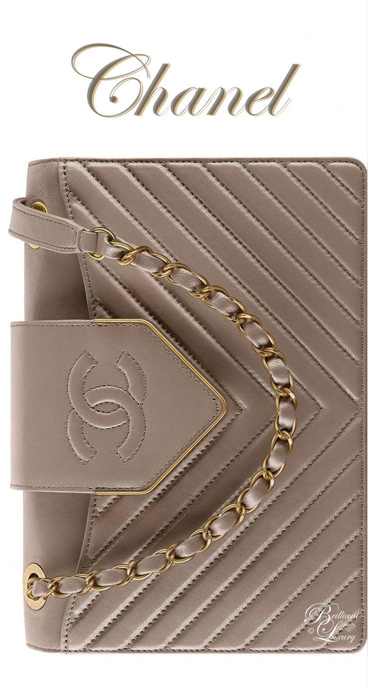 Brilliant Luxury by Emmy DE ♦Chanel Gray Sheepskin Flap Bag FW 2016/17 #Burber…