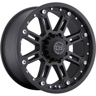20x9 Black Black Rhino Rockwell 5x5 -12 Rims Discoverer AT3 LT265/60R20 Tires