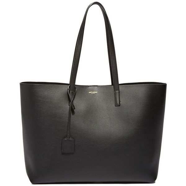 Saint Laurent Pre SS16: Saint Laurent Large Shopper Tote Bag found on Polyvore featuring bags, handbags, tote bags, purses, black, yves saint laurent, black tote, black tote bag, black shopping bags and black handbags