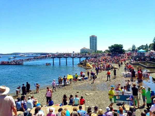 Crowd during the Silly Boat Regatta Event, Nanaimo, BC