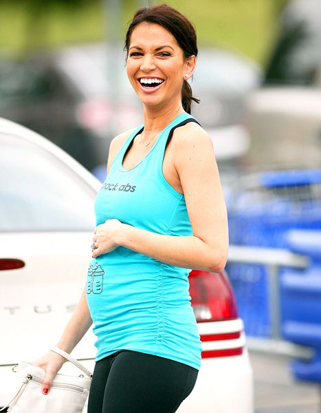 A glowing Melissa Rycroft shows off her growing baby bump.