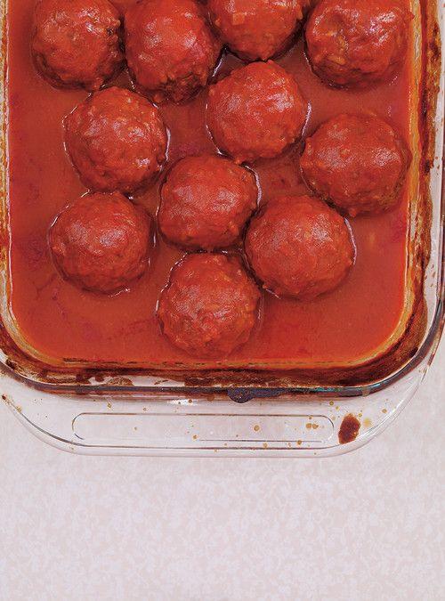 Sauce tomate aux boulettes de viande