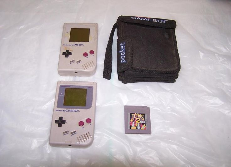 Two Original Nintendo Game Boy 's DMG-01 Carrying Case Tetris 2 Game Parts Only #Nintendo