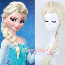 Beautifuly Disny Movie Frozen Snow Queen Elsa Cosplay Wigs,Blonde Braid by Tonymoly