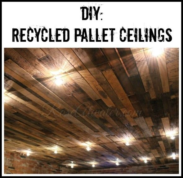 DIY Recycled Pallet Ceilings. I L O V E this!