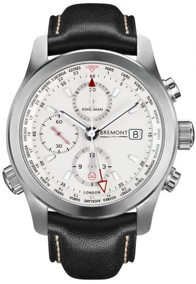 Bremont Kingsman Special Edition Stainless Steel BKM/SS.Taking the majority of its design cues and features from the wonderfully over-engineered Bremont World Timer (ALT1-WT), the Bremont Kingsman Special Edition Stainless Steel features a modified calibre 13 1/4 BE-54AE automatic COSC certified movement with 24 hour GMT functionality, a Bremont Trip-Tick® case construction hardened to 2000 vickers and a highly finished white metal dial with SuperLumiNova® coated hands and Kingsman emblem on…