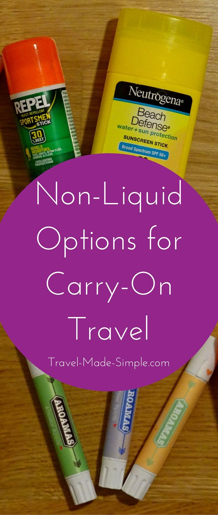 Liquids restrictions can put a damper on your efforts to travel carry-on only. But there are tons of solid non-liquid options to help make it easier. Solid perfume, solid shampoo, even solid sunscreen and solid bug repellent are great alternatives to the liquid versions.