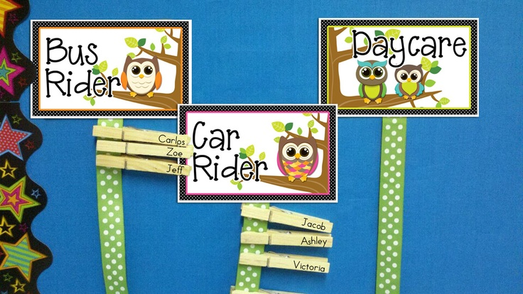 Come take a look at my CUTE OWL goodies that I have been making for my classroom!