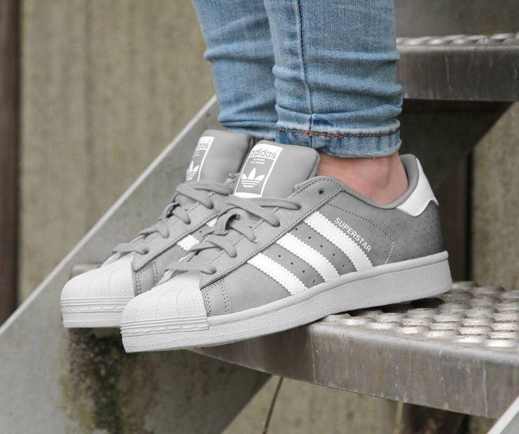 Adidas SUPERSTAR W grijze lage sneakers