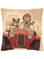 Coussin FS HOME Dogs race rouge par Booster, 45x45cm