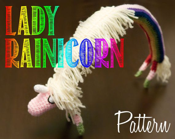 Lady Rainicorn Amigurumi Crochet Pattern! Brand new pattern! Adventure Time!