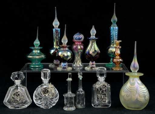 Lot: 13 Art Glass Perfume Bottles, Lot Number: 0138, Starting Bid: $100, Auctioneer: Nest Egg Auctions, Auction: Gala New Year's Auction, Date: December 30th, 2017 EST