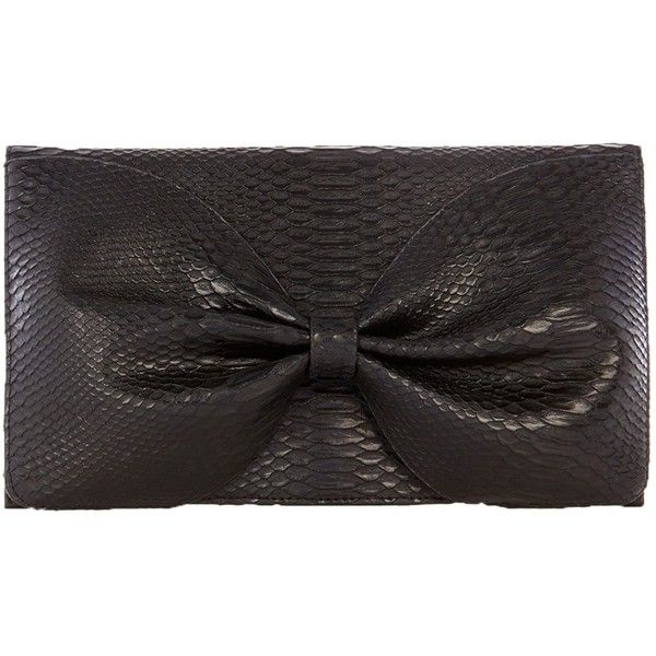 Coast Textured Bow Bag, Black ($35) ❤ liked on Polyvore featuring bags, handbags, clutches, evening hand bags, evening handbags, bow purse, fold-over clutches and chain strap handbag