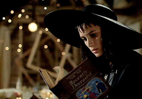 How To Be Your Best Goth Self, As Told By Lydia From Beetlejuice pick up and read the liturature that will give you a heads up to the afterlife
